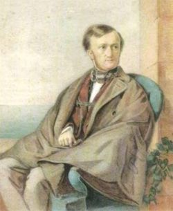 Richard Wagner 1853, Aquarell von Clementine Stockar-Escher