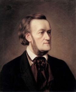 Richard Wagner 1862, portraitiert von Caesar Willich